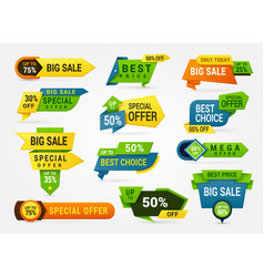 big sale banner set advertising sticker and card vector image