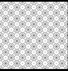 black flower and dots japanese seamless on white vector image