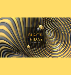 black friday sale abstract twisted motion vector image