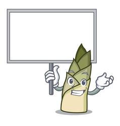 Bring board bamboo shoot character cartoon vector
