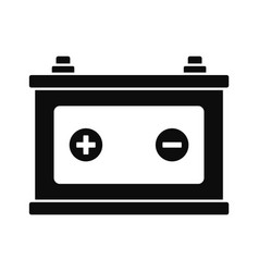 Car battery icon simple style vector
