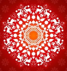 Christmas decorative circle design vector