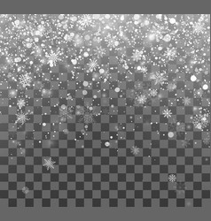 Christmas snow magic holiday background falling vector