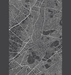 City map athens monochrome detailed plan vector
