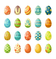 colorful painted easter eggs flat vector image