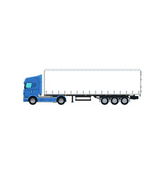 Commercial cargo truck isolated icon vector