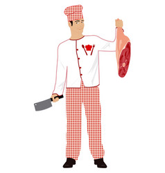 cooking meat vector image