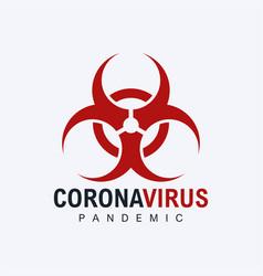 Coronavirus biohazard biological danger symbol vector