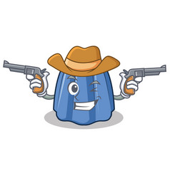 Cowboy jelly character cartoon style vector