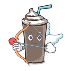cupid ice chocolate character cartoon vector image