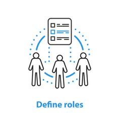 Defining roles concept icon vector