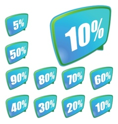 Discount labels set EPS8 vector
