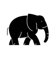 elephant icon sign o vector image