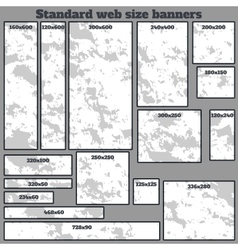 empty box standard size web banners blank set vector image