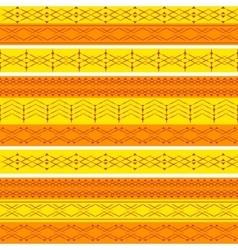 Ethnic geometry seamless pattern vector image