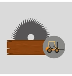 Forklift truck construction sawmill icon graphic vector