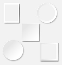 Frame set isolated white background vector