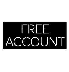 Free account stamp on white vector