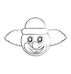 Funny clown character icon vector