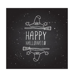 Happy halloween - typographic element vector