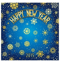 Happy new year festive lettering vector