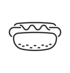Hot dog line icon vector image