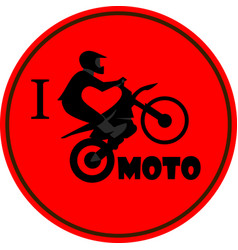 I like motorcycle vector