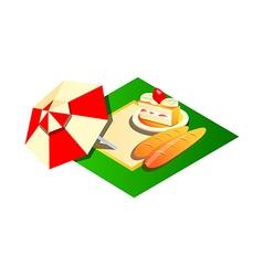 icon picnic vector image