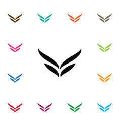 Isolated wings icon fly element can be vector