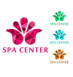 logo for spa center for vector image