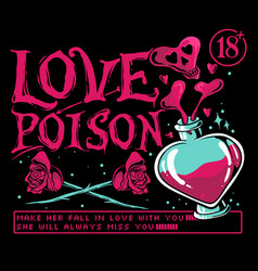 love poison vector image