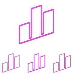 Magenta real estate logo design set vector