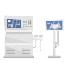 Medical ultrasound equipment vector