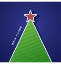 Modern christmas tree background vector