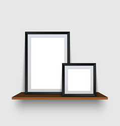 Modern two empty frames standing on a vector
