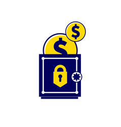 Money is kept safe trend in a flat vector