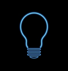 Neon lamp on a black background vector