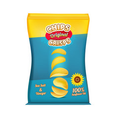 Package design of snacks or chips template vector