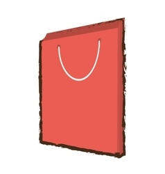 pink bag gift papper handle sketch vector image