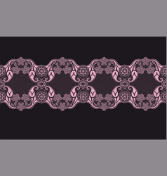 Pinkk lace ribbon vector