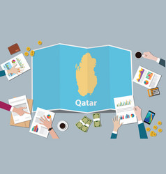 qatar country growth nation team discuss with vector image