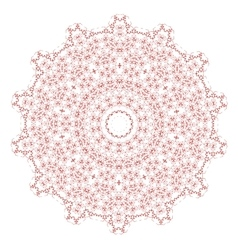 Red mandala isolated vector