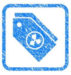 ripple tokens framed stamp vector image