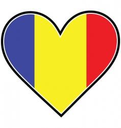 Romania heart flag vector image vector image