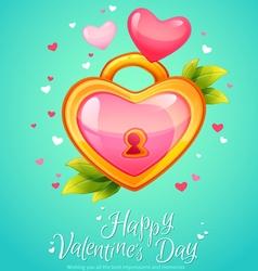 Romantic heart shaped lock with keyhole vector