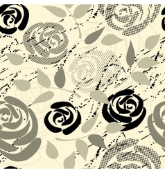 Roses collage vector