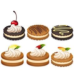 Sandwich cookies with cream vector image