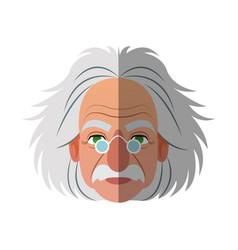 Scientist man cartoon icon vector