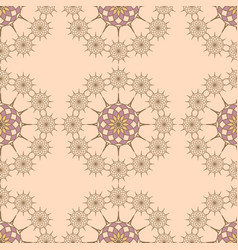 seamless pattern on a vanila background vector image