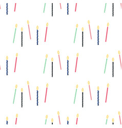 seamless pattern with hand drawn candles vector image